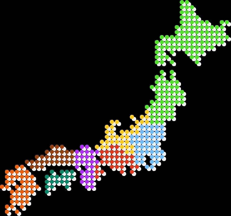 旅行会社・ホテル旅館の転職求人日本地図